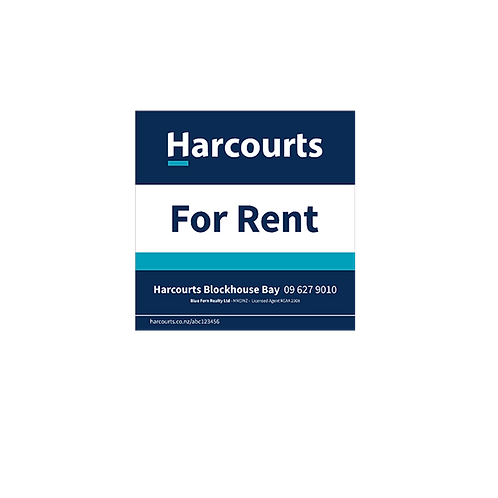 Harcourts - For Rent Site Sign(580mm x 580mm)