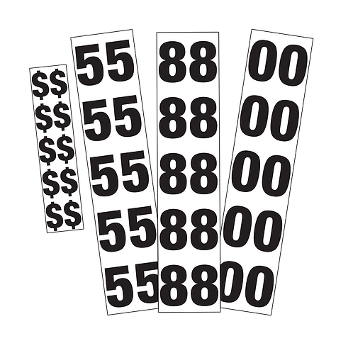 Rental Price - Generic - 60mm Number Stickers