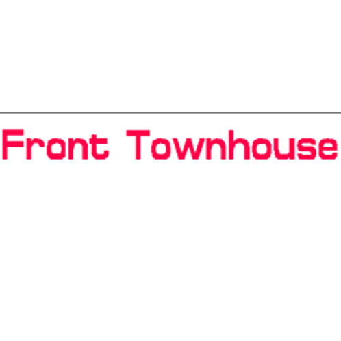 Harveys - Front Townhouse Overlay Stickers(385mm x 70mm)