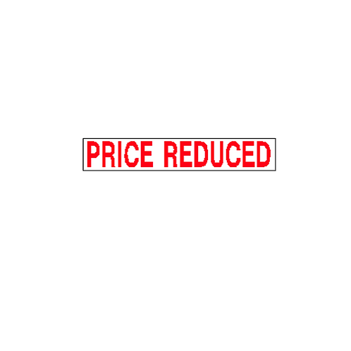 Generic Product - 'Price Reduced' Stickers (350mm x 60mm)