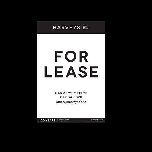 Harveys - Site Signs ( For Lease: 800mm x 1200mm)
