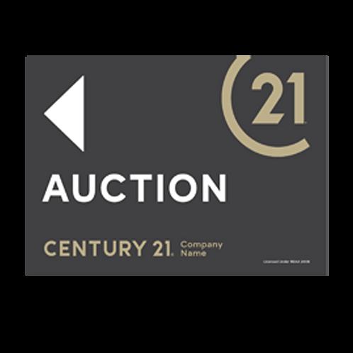 Century 21 -  Landscape Auction Arrow Signs(580 x 400mm)