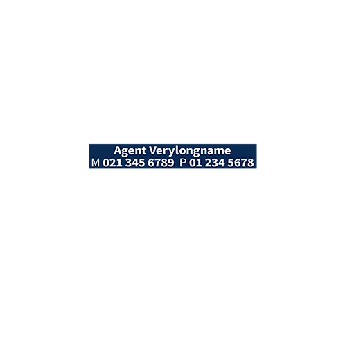 Harcourts - Small Agents A/Hrs Stickers(490x75mm) - For Landscape