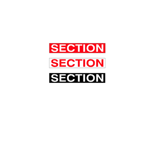 Generic Product - Section  Stickers (345mm x 65mm)