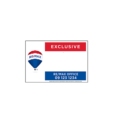 REMAX - Exclusive Site Signs(900x600mm)