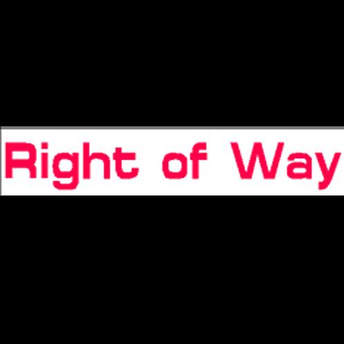 Harveys - Right of Way Overlay Stickers(385mm x 70mm)