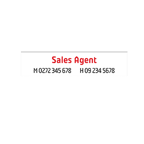 Professionals - Agents A/Hrs Corflute Signs without photo(900mm x 200mm)