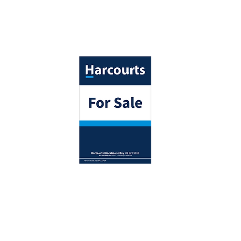 Harcourts - For Sale Site Sign(580mm x 880mm)