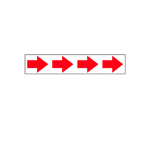 Generic Product - Large Directional Arrow Sticker (460mm x 90mm)