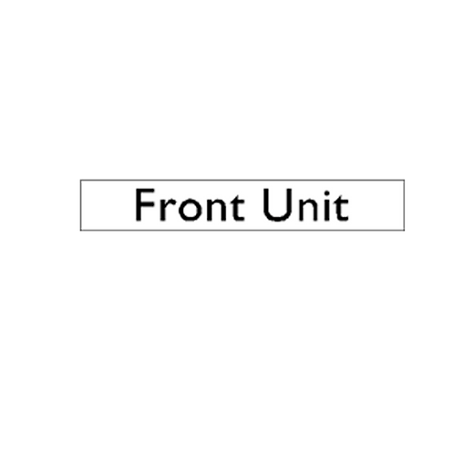 Generic Product - Front Unit Sticker (220mm x 45mm)