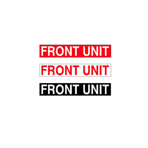 Generic Product - Front Unit Stickers (375mm x 65mm)
