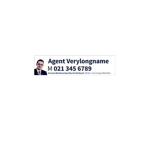 Harcourts - Agents A/Hrs Corflute Signs(580mm x 140mm) White