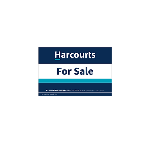 Harcourts - For Sale Site Signs(880mm x 580mm)