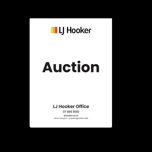 LJ Hooker - Auction  Portrait Site Signs(900mmx1200mm)
