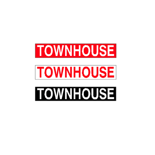 Generic Product - Townhouse Stickers (375mm x 65mm)