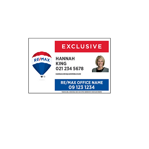 REMAX - Exclusive Site Signs with Photo (900x600mm)