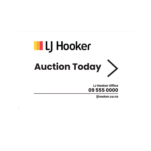LJ Hooker -  Auction Today Arrow Signs(450x300mm)