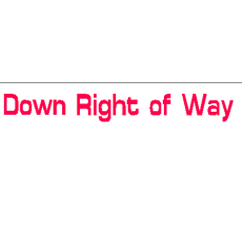 Harveys - Down Right Of Way Overlay Stickers(385mm x 70mm)