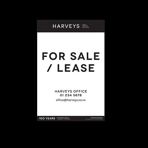 Harveys - Site Signs ( For Sale/Lease: 900mm x 1200mm)