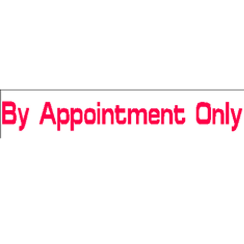 Harveys - By Appointment Only Overlay Stickers(385mm x 70mm)