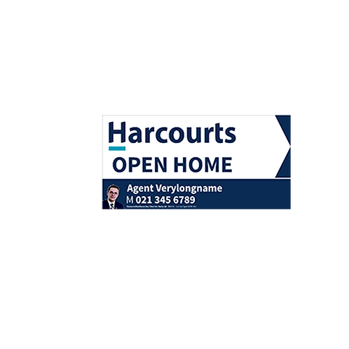 Harcourts - Agents Open Home Arrow Signs(580mm x 290mm)