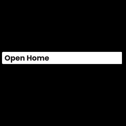 LJ Hooker - Large Open Home Sign Strip (880x90mm)