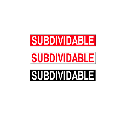 Generic Product - Subdividable  Stickers (375mm x 65mm)