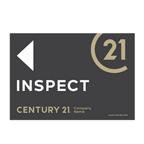 Century 21 -  Landscape Inspect Arrow Signs(580 x 400mm)