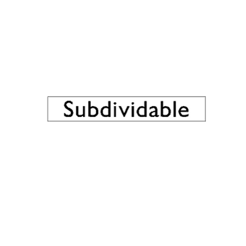 Generic Product - Subdividable Sticker (250mm x 54mm)