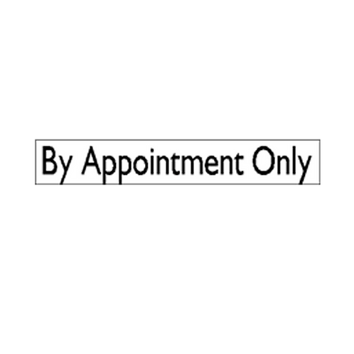 Generic Product - By Appointment Only Sticker (480mm x 60mm)