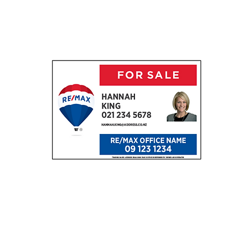 REMAX - For Sale Site Signs with Photo (900x600mm)