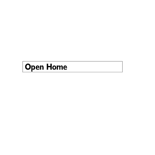 Generic Product - Open Home Corflute Sign Strip(900mm x 100mm)