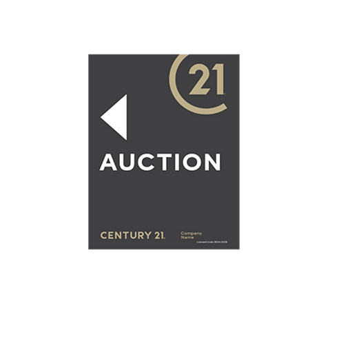 Century 21 -  Portrait Auction Arrow Signs(430 x 580mm)