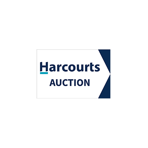 Harcourts - Auction Directional Arrow Sign(450 x 300mm) Double Sided - White
