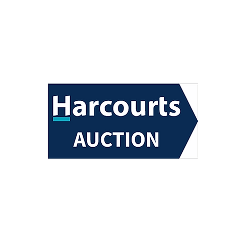 Harcourts - Auction Directional Arrow Sign(580mm x 290mm) Double Sided- Blue