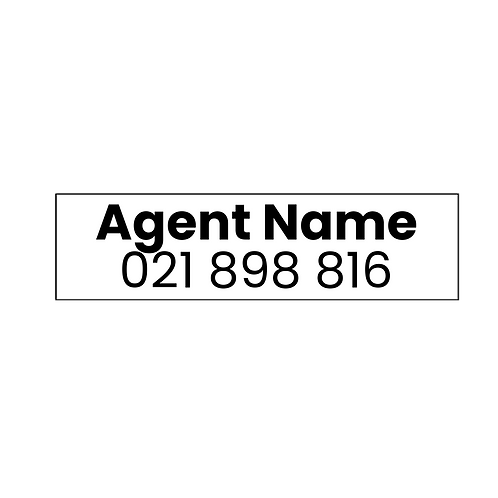 LJ Hooker - Large Agents A/Hrs Stickers