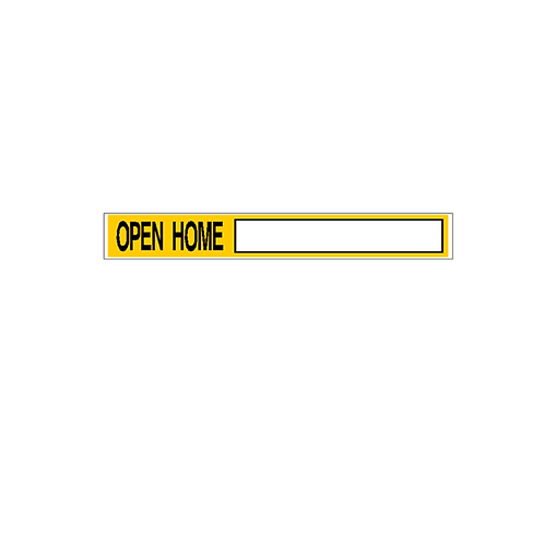 Generic Product - Open Home Corflute Sign Strip(900mm x 120mm)