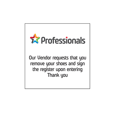 Professionals - Welcome Signs