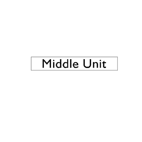 Generic Product - Middle Unit Sticker (250mm x 45mm)