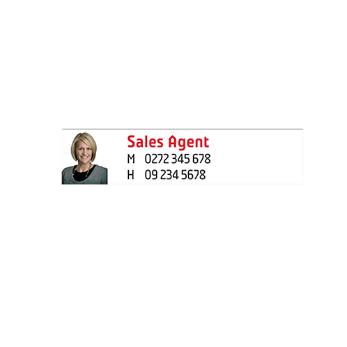 Professionals - Agents A/Hrs Corflute Signs with photo(900mm x 200mm)