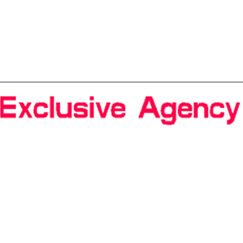 Harveys - Exclusive Agency Overlay Stickers(385mm x 70mm)