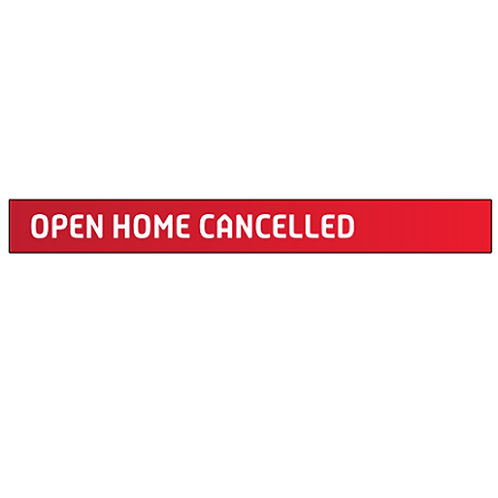 Professionals - Open Home Cancelled Sign Strip