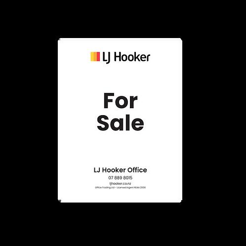 LJ Hooker - For Sale Portrait Site Signs(900mmx1200mm)