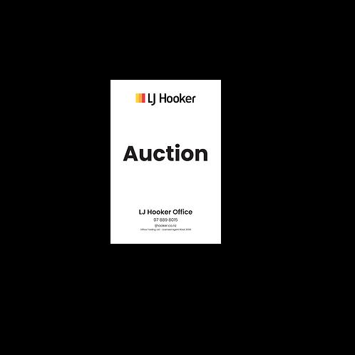 LJ Hooker - Auction Portrait Site Signs(600mmx900)