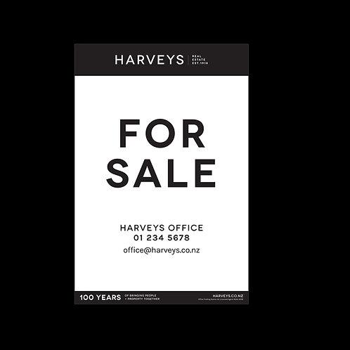 Harveys - Site Signs( For Sale: 900mm x 1200mm)