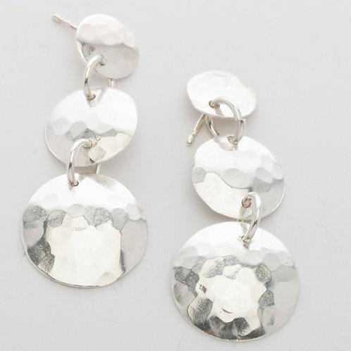 Triple Disc Earrings