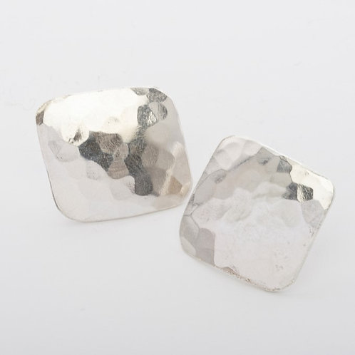 Square Studs - Silver or Gold