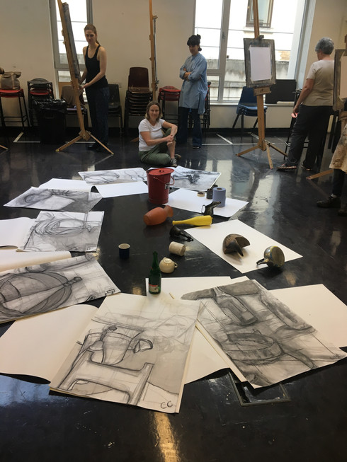 City Lit Fine art - Week 3 - drawing in pencil and a bit of tone!