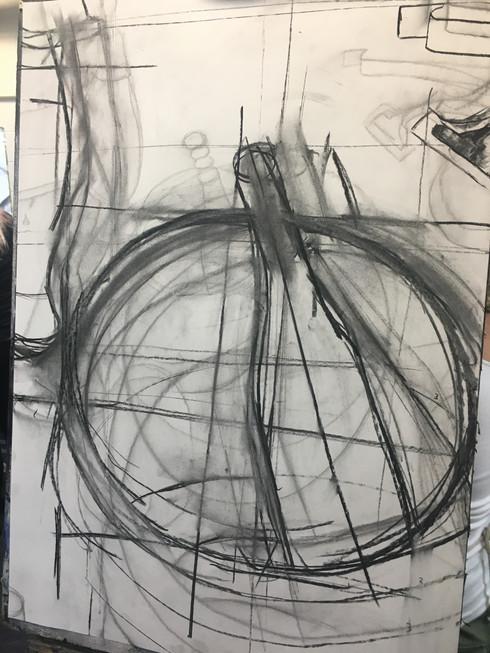 City Lit Fine Art Week 2 - Drawing again