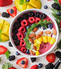 Healthy fruit bowl